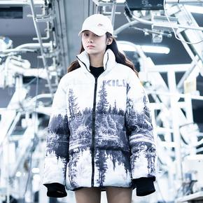 Killwinner棉衣冬季男女同款外套新款雪山棉服国潮牌加厚棉袄