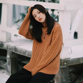 PSO Brand 19AW6 高领花纹保暖简约百搭秋冬舒适套头纯色毛衣男女
