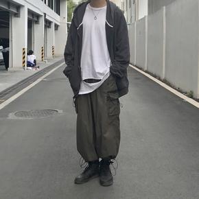 ILLUSIONIST 虎纹拼接抽绳裤