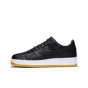 Fragment x Clot x Nike Air Force 1 AF1 闪电黑丝绸 CZ3986-001