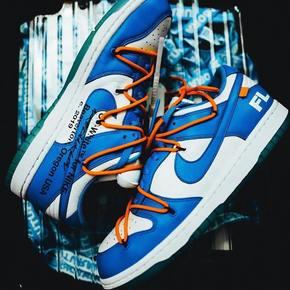 預售!OW × FUTURA x Nike dunk blue 2019三方聯名 北卡藍