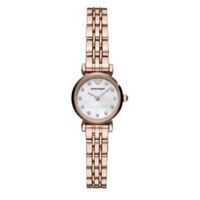 阿玛尼 (Emporio Armani )手表 满天星小表盘钢带女士玫瑰金时尚休闲石英腕表 AR11203