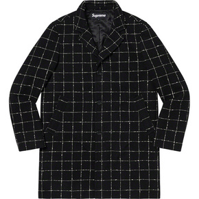 Supreme 19秋冬 wool windowpane overcoat