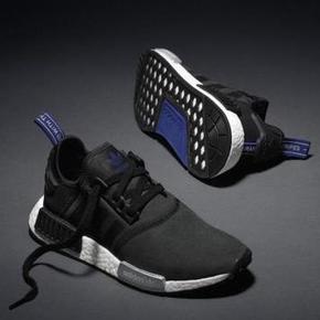 38.5码一双秒价!Adidas NMD Boost 黑蓝麂皮 S75230
