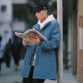 PSO Brand 19AW7 原创复古立领休闲长款夹棉风衣百搭防寒长外套男