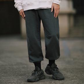 PSO Brand 19AW7 原创复古抓绒基础简约舒适感水洗染色卫衣束脚裤
