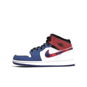 Air Jordan 1 Mid GS AJ1中帮女子蓝红拼接篮球鞋BQ6931-146