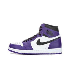 预售!Air Jordan 1 Court Purple AJ1 白紫脚趾  555088-500(2020.4.4发售)