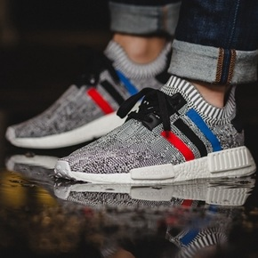 "Adidas NMD  R1 ""Tri-Color"" 灰白法国  BB2888"