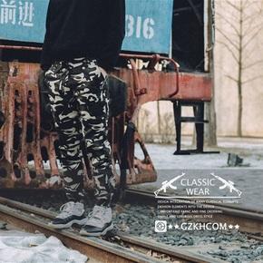 GZKHCOM 迷彩街头 工装束脚裤