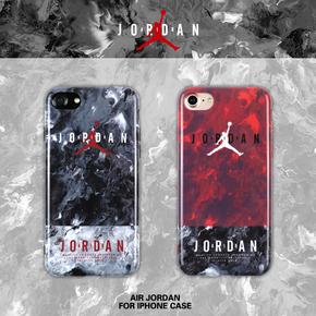【定制】Air Jordan Brand 水墨纹/火焰纹 软硅胶手机壳 for iPhone6/7/PLUS