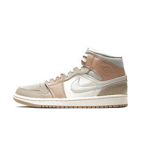 预售!Air Jordan 1 Mid AJ1 米兰浅灰米白拼接篮球鞋CV3044-100