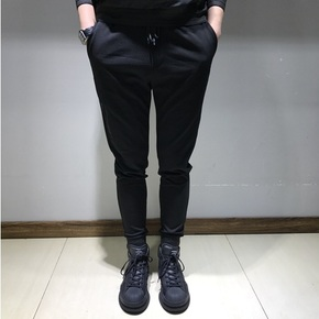 JOESPIRIT 春上新 细节拉链设计经典版型小脚束腿裤