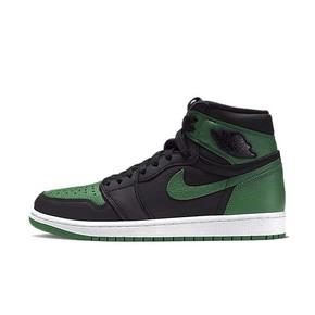 Air Jordan 1 AJ1 黑绿脚趾 高帮篮球鞋 555088-030