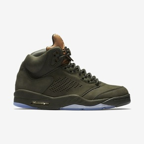 Nike Air Jordan 5 Premium Tongue 军绿色 881432-305