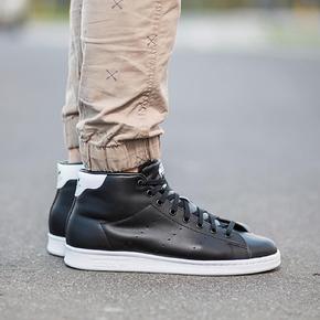 Adidas Stan Smith 高帮黑白 s75027