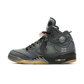 Air Jordan 5 AJ5 x Off-white ow联名黑蝉翼篮球鞋