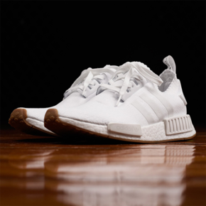 """Adidas NMD_R1 PK """"Gum Pack"""" 纯白 BY1888"""