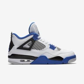 """限时特惠888元!Air Jordan 4 """"Motosports"""" 白蓝 308497-117"""