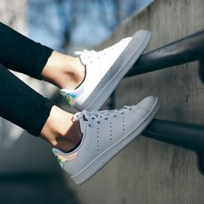 Adidas Original Stan Smith 镭射尾镜面小白鞋 AQ6272