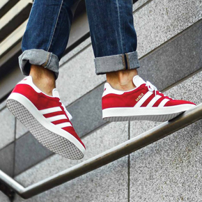 预售!Adidas GAZELLE 白红配色