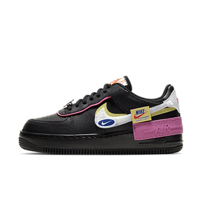 Nike Nsw Air Force 1 Shadow 黑白粉 板鞋 CU4743-001