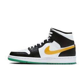 Air Jordan 1 Mid AJ1红黄彩钩鸳鸯中帮篮球鞋 BQ6472-063