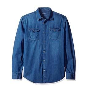 Calvin Klein 卡文克莱 Long Sleeve 牛仔衬衫 Calvin Klein Jeans Men's Long Sleeve Denim Shirt