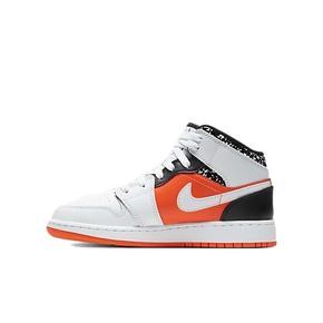 Air Jordan 1 Mid GS 篮球鞋 AJ1橙绿鸳鸯 中帮女鞋 554725-870
