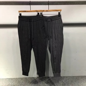 JOESPIRIT 法国版进口面料 二色混纺薄款束脚裤 58100