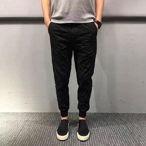 JOESPIRIT 春夏不规则条纹设计束脚裤 0210
