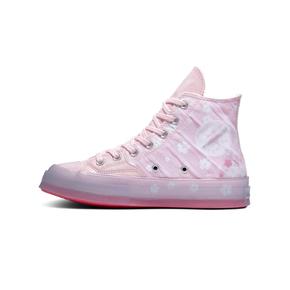 Converse匡威樱花粉女鞋1970S水晶透明果冻底帆布鞋166752C