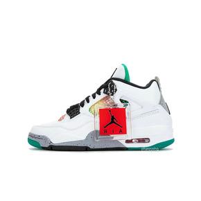 """預售!Air Jordan 4 WMNS """"Rasta"""" AJ4Gucci 配色 AQ9129-100(2020.4.16發售)"""