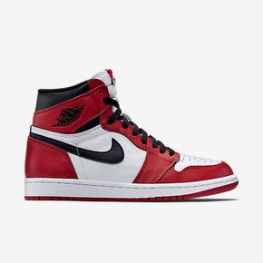 "Air Jordan 1 Retro High OG ""Varsity Red""配色 555088-101"