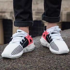 Adidas EQT boost Support 93/17 鸳鸯黑白粉 BA7473