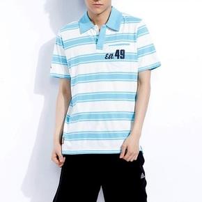 限时秒!Adidas 男式POLO衫 橙色/蓝色