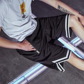 GZKHCOM 网眼拉链INS超火同款宽松五分欧美街头嘻哈潮牌短裤跨裤A93008