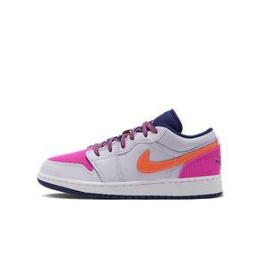 Air Jordan 1 Low AJ1低帮灰粉 绒布拼接女子休闲鞋 554723-502