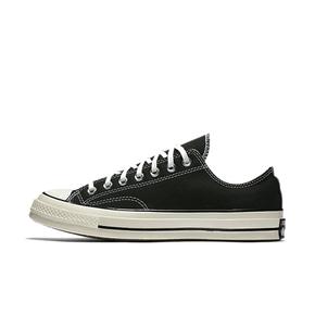 Converse/匡威男女鞋1970s三星标经典黑色低帮休闲帆布鞋144757C