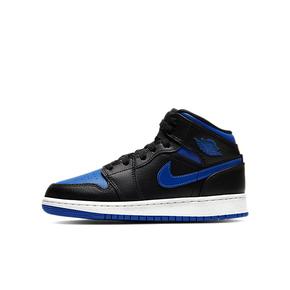 Air Jordan 1 Mid aj1中帮皇家蓝 黑蓝女子篮球鞋554725-068