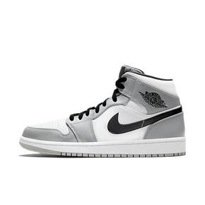 Air Jordan 1 Mid AJ1 烟灰小Dior伯爵篮球鞋 554724-092