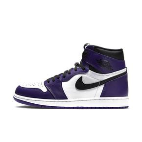 Air Jordan 1 OG AJ1白紫脚趾紫葡萄篮球鞋 555088-500