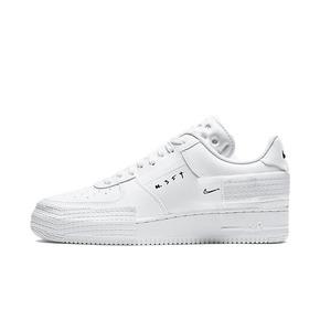 Nike Air Force 1 AF1 纯白解构绑带低帮板鞋 CT2584-100