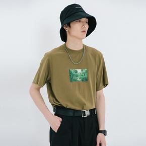 ROARINGWILD SS20 咆哮野兽 深绿色丛林印花T恤
