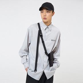ROARINGWILD SS19 咆哮野兽 灰色反光标签衬衫