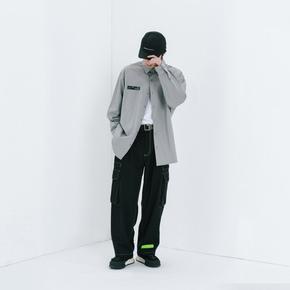 ROARINGWILD SS20 咆哮野兽 深灰色概念印花长袖衬衫