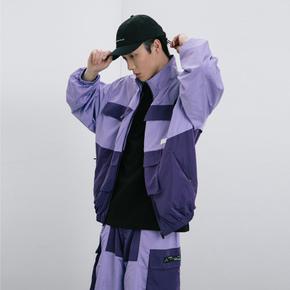 ROARINGWILD SS20 咆哮野兽 淡紫色口袋拼接运动外套