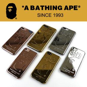 【定制】BAPE猿人头金块红色特别版金属手机壳for iPhone6/7/PLUS