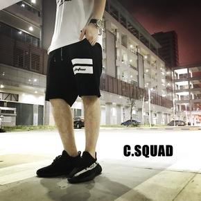 C.SQUAD 限量冰涼感丝质棉印花短裤 343CS2