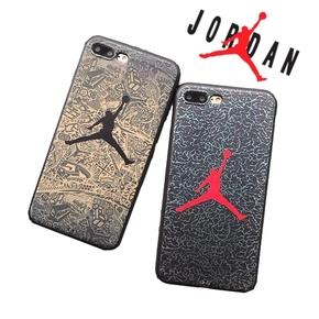 【定制】Air Jordan 爆裂纹乔丹全包软壳手机壳for iPhone6/7/PLUS